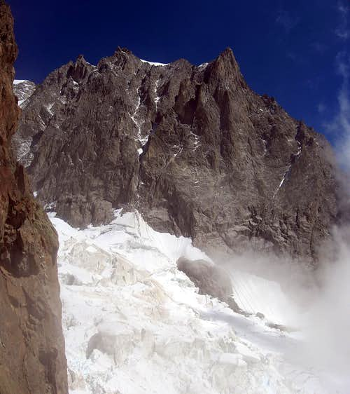 Aiguille Blanche seen from Colle dell\'Innominata.