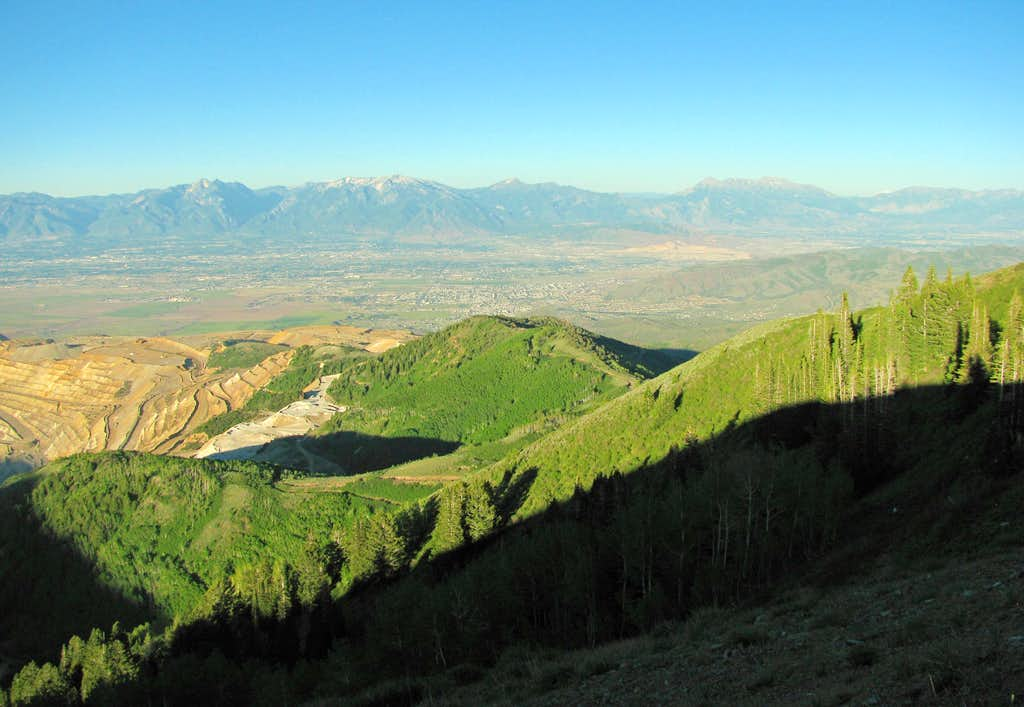 Wasatch view from Oquirrhs