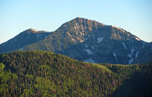 Lowe Peak from Butterfield Canyon