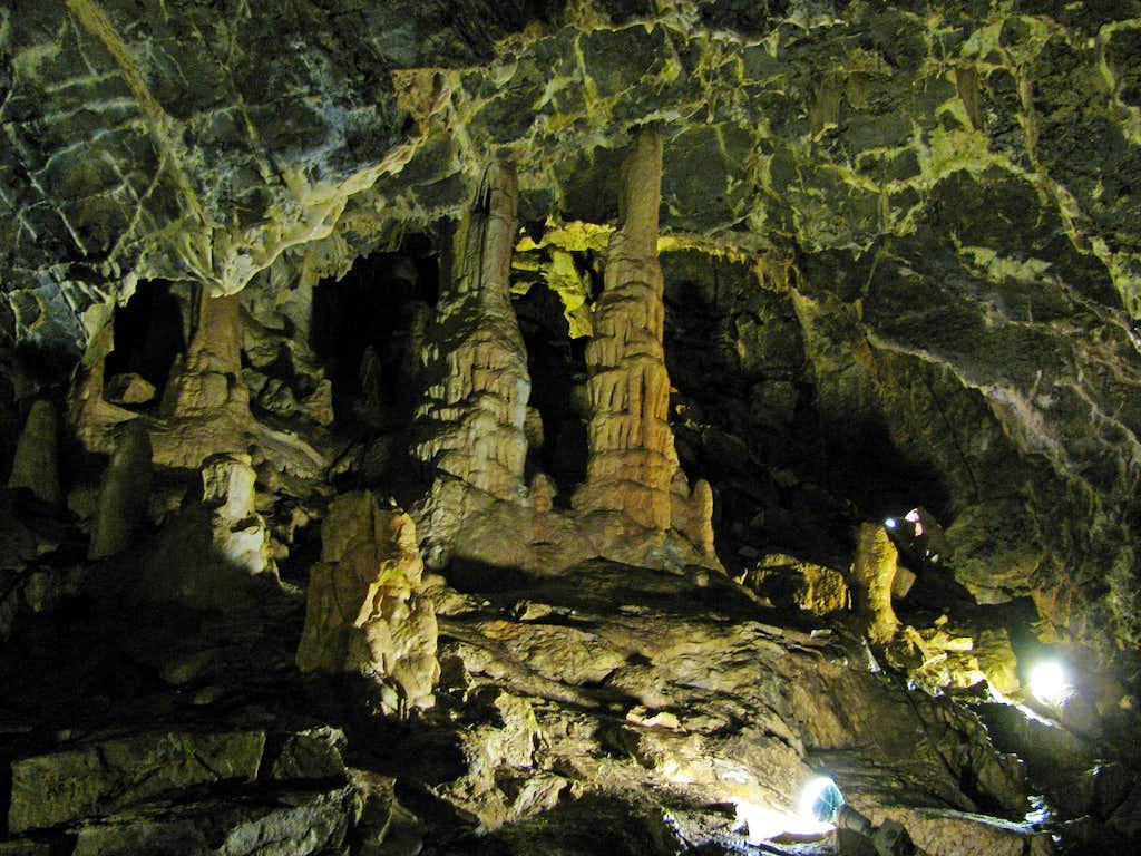 Minnetonka Cave stalagmites