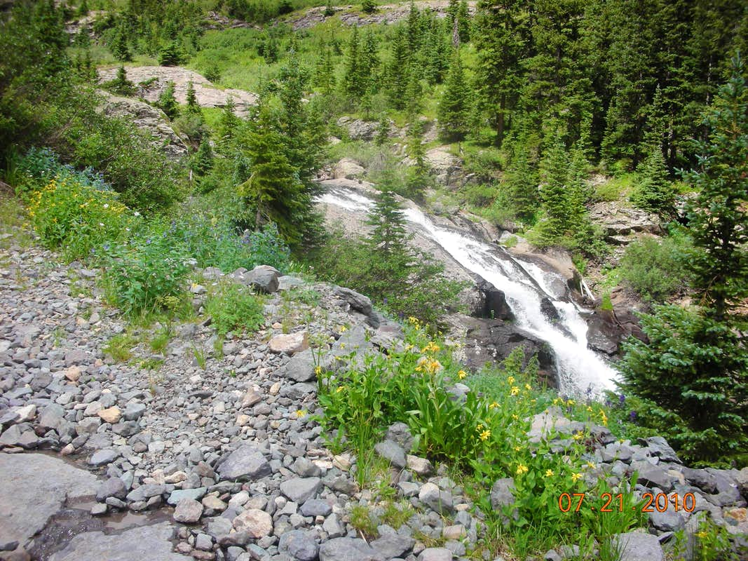 Waterfalls in Bridal Veil Basin