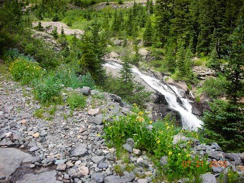 Waterfalls in Bridal Veil Basin