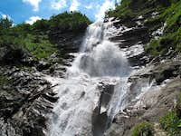 A beautiful waterfall in the upper Krumltal valley
