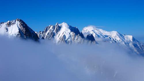 Aiguille du Chardonnet, Verte, the Montets ridge and Drus, Mont Blanc and more