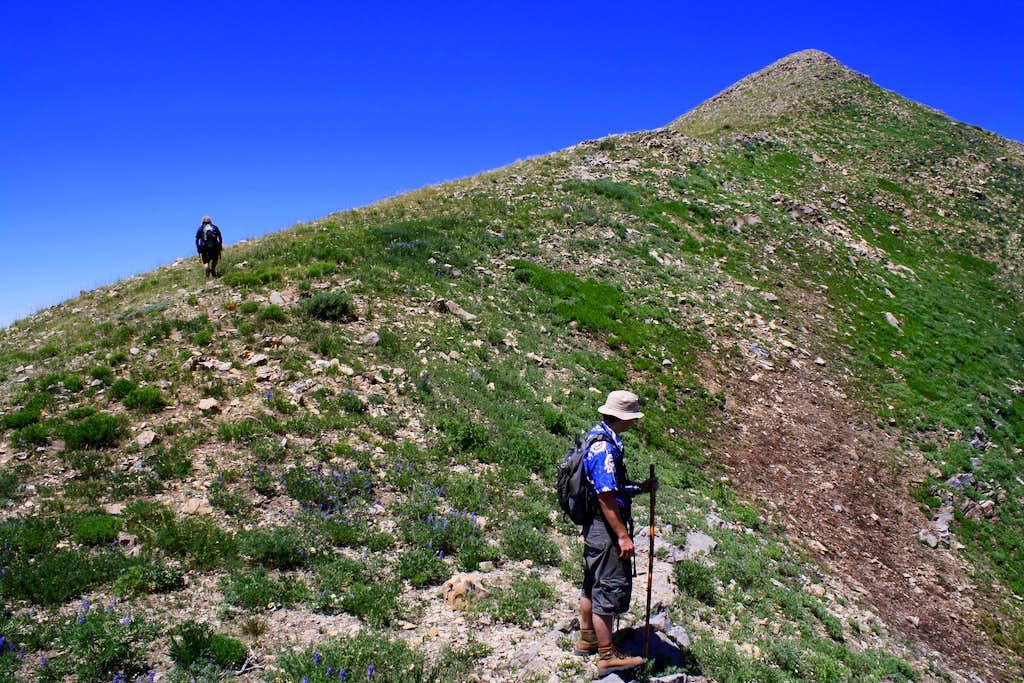 Troy and Matt Climbing Lowe Peak