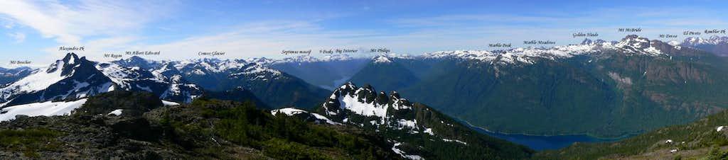 Mt Adrian Summit Panorama