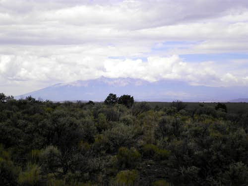 Clouds over the Sangre de Cristo Mountains