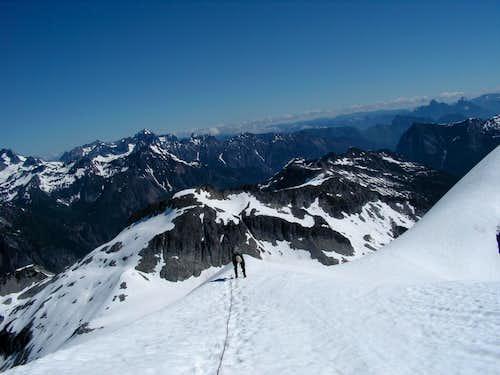 Nearing Rock summit