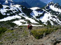 Mt Adrian - Descending from The Summit