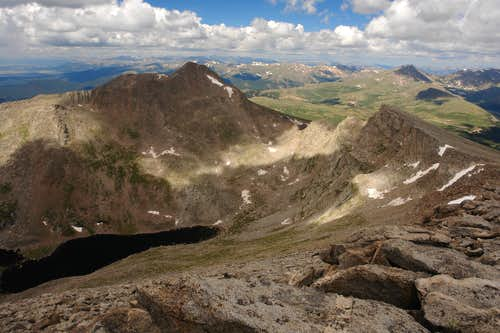 Mount Bierstadt and the Sawtooth from West Ridge of Evans