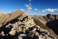 Looking along the ridge towards Mount Bierstadt