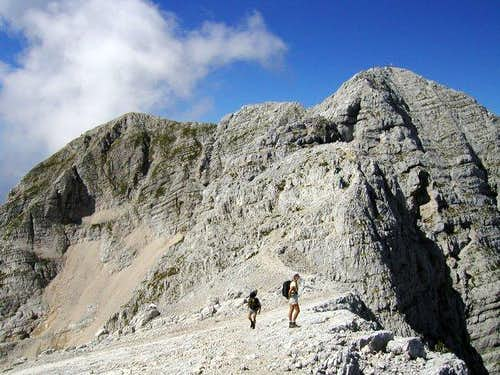 On the ridge of Kanin from...