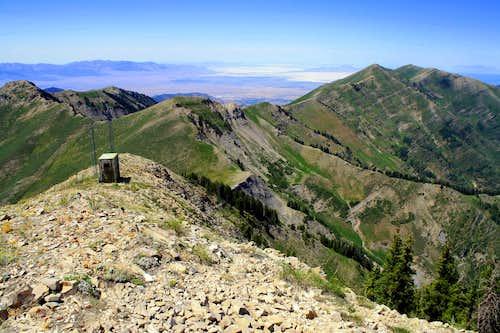 Kelsey Peak from Lowe Peak