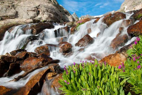 Indian Peaks Wilderness, Lake Isabelle waterfall
