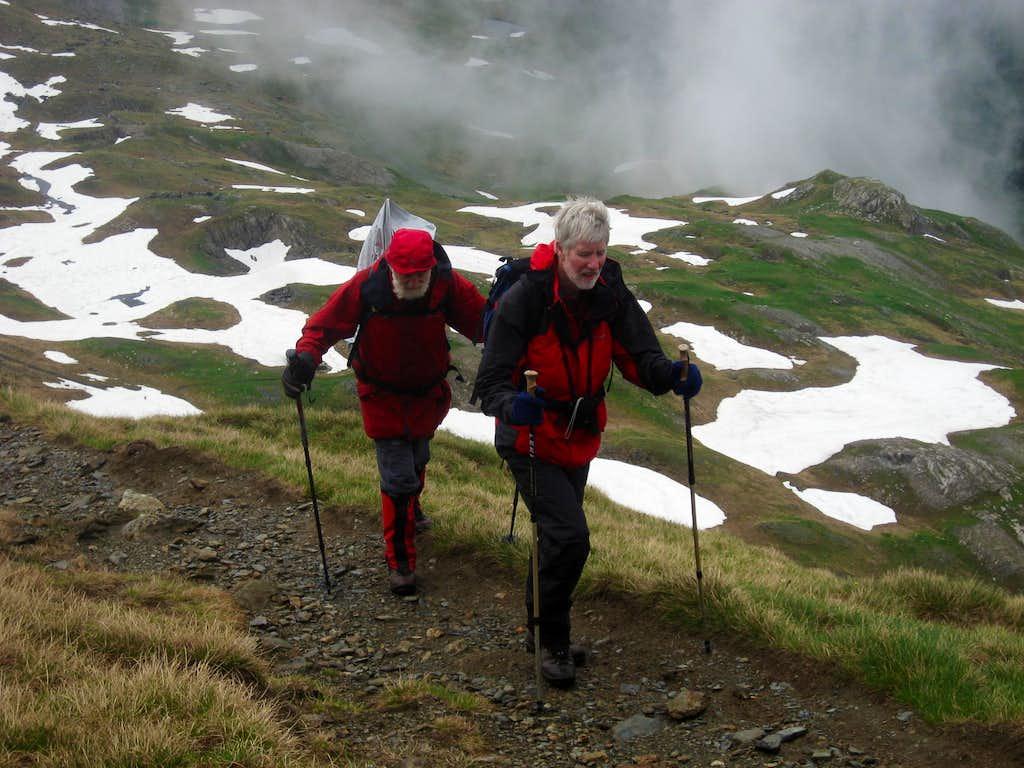 Hiking the zig zags