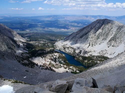 Valentine Lake from the ridgeline