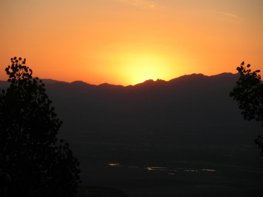 Sunrise over Wasatch