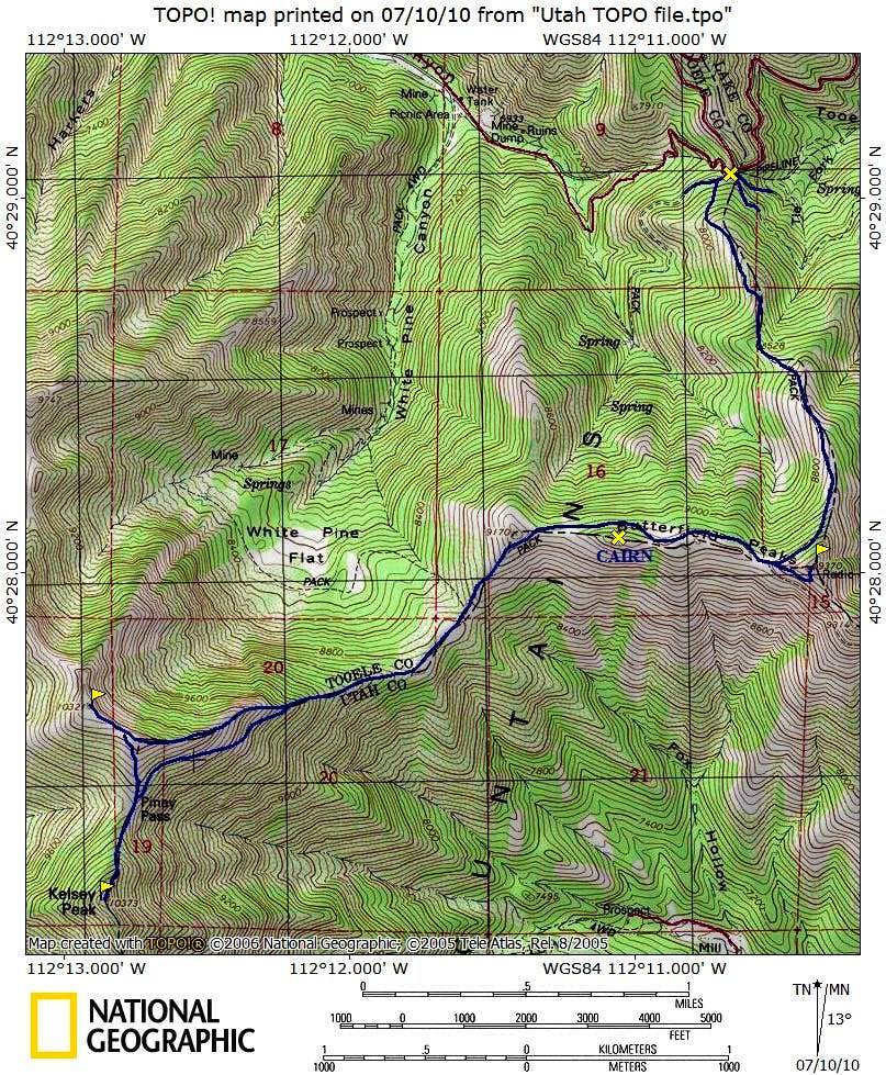 Kelsey Peak Map