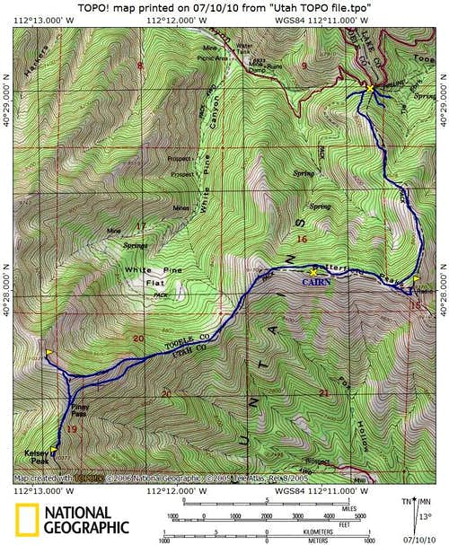 Kelsey Peak Map