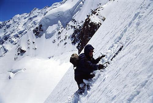 A climber on his way down...