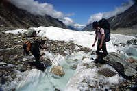 Negotiating a small glacial...