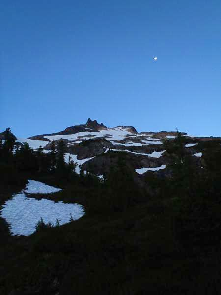 Sloan Peak with the moon