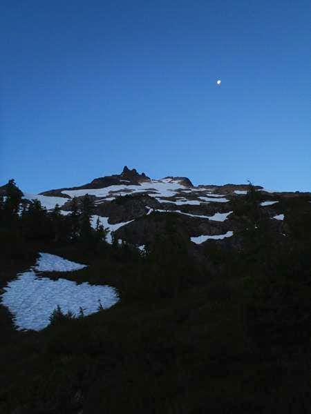 Sloan Peak with the moon