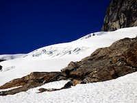 Crevasses on Sloan Peak.