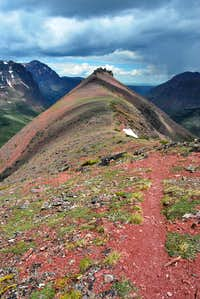 ridge leading to Painted Tepee Peak