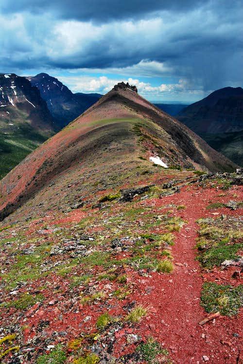 ridge leading to Painted Tepee Peak