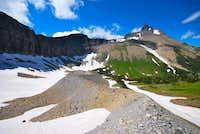moraine beneath Norris Mountain