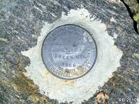Green Mountain bench mark