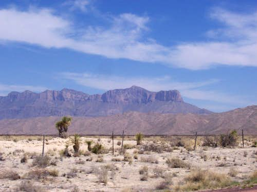 Guadalupe and El Capitan from the road