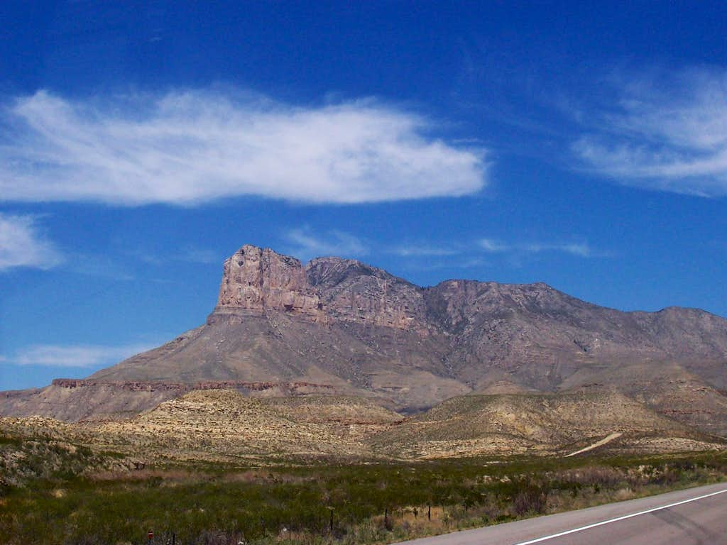 View from the East of El Cap and Guadalupe