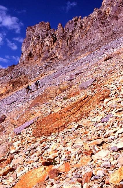 CMC climbers ascend the gray...