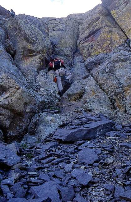 Climbing conditions in the...