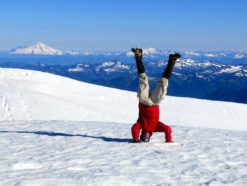 Glacier Peak Headstand
