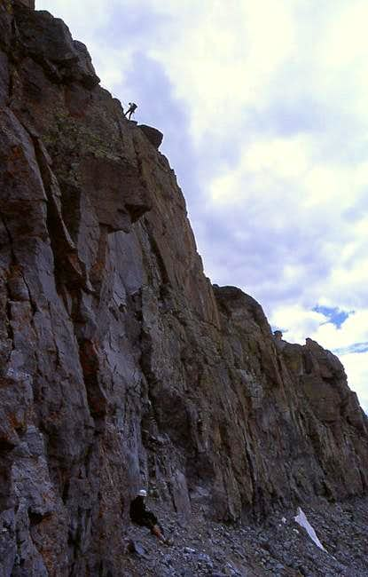 Rappelling off of the west...