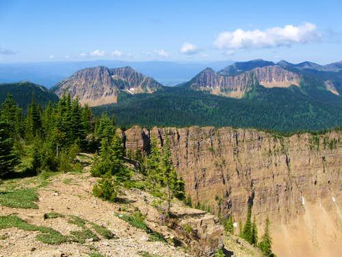 Whitefish Range Peaks