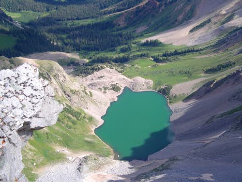 Capitol lake from summit