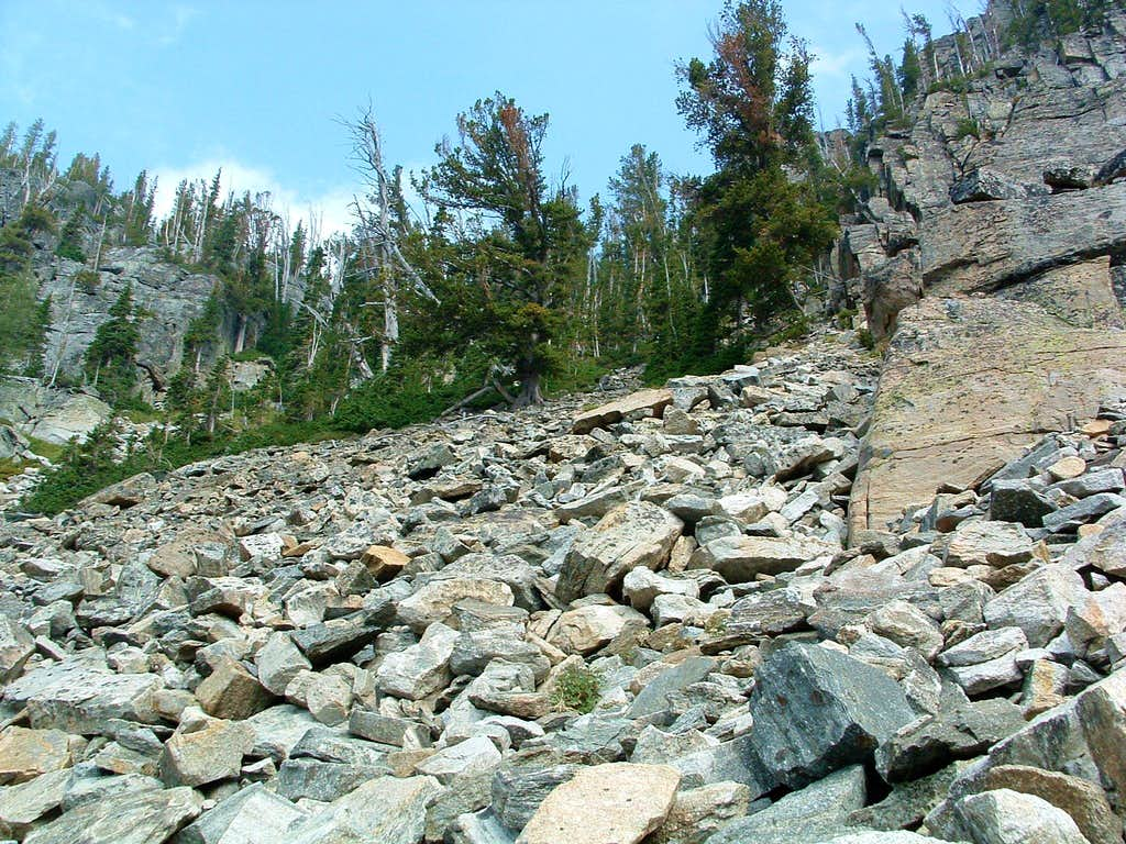 Talus in the Access Gully