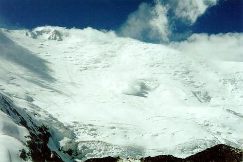 Huge avalanche falling down...