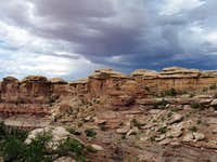 Inside the Needles district of Canyonlands NP