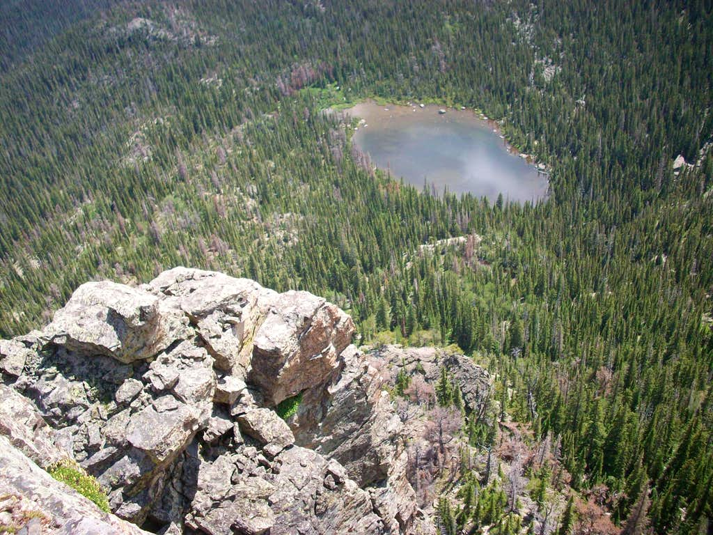 Looking down to Spruce Lake