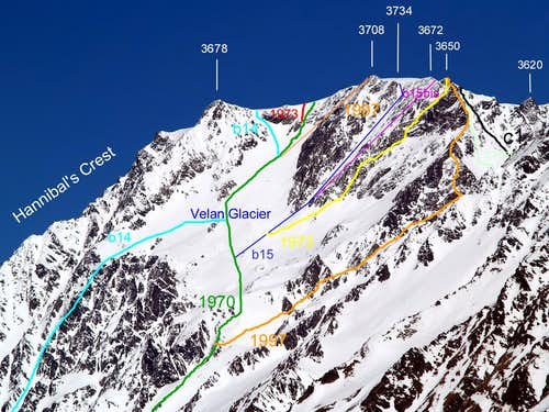 .<font color=red><b>AOSTA's </font>VALLEY in  <font color=green>SUMMITS</FONT> <font color=red>EMOTIONS</FONT> <font color=blue>MOUNT VELAN  S-SW FACE</FONT>  and  <font color=purple>Saddles</b></font>