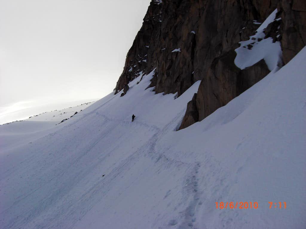 Peter crosses the glacier