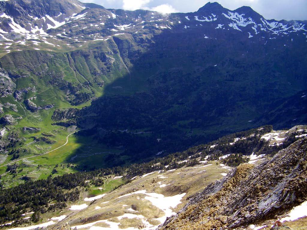 La Besurta from Pico de Paderna