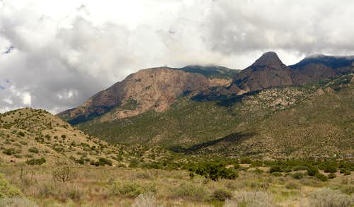 Sandia Mountains: the Shield and the Needle