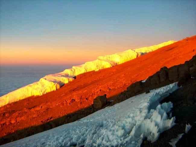 Rebman Glacier at sunrise...
