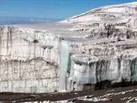 Frozen waterfall off of a...